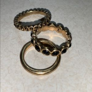 size 7 lucky brand 3 set rings